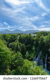 Shirahige Water Falls in Biei, Hokkaido, Japan