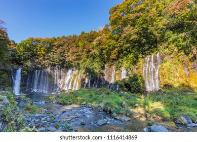 Shiraito Fall, A waterfall in Fujinomiya at Shizuoka Prefecture, Japan