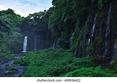 Shiraito Falls, world Heritage in Japan.