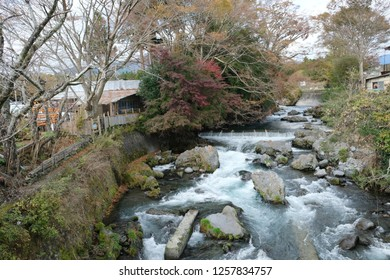 Shiraito no taki waterfall are located in the southwestern foothills of Mount Fuji. Ranked among the most beautiful waterfalls in Japan