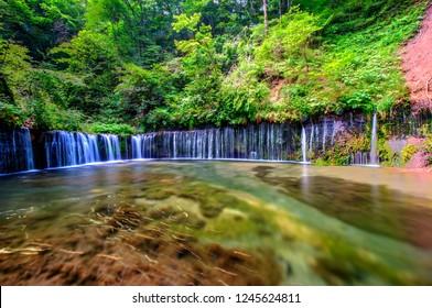 Shiraito Waterfalls , Nagano, Japan