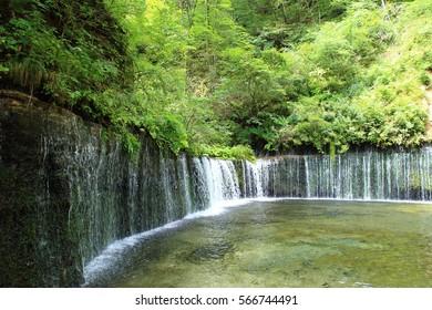 Shiraito-no-taki Waterfall in Karuizawa, Japan
