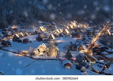 Shirakawago light up, Gifu Prefecture, Japan