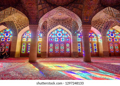 Shiraz, Iran - 30 September 2016 Nasir-ol-molk Mosque Interior