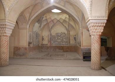 Shiraz, Iran - December, 29, 2011: Interior of the Nasir al-Mulk Mosque