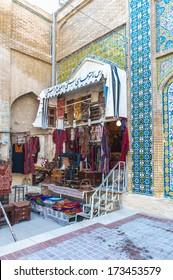 SHIRAZ, IRAN - JANUARY 4, 2014: Vakil Bazar in Shiraz, Iran, Jan 4, 2014. This market originally was established by the Buwayhids in the 11th century AD
