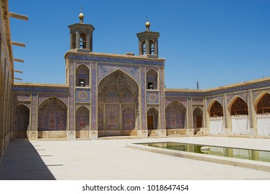 SHIRAZ, IRAN - JUNE 20, 2007: Exterior of the Nasir al-Mulk mosque in Shiraz, Iran.