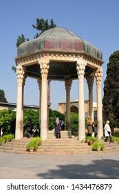 Shiraz / Iran - June 21, 2011: Tomb of the poet Hafez-i Shirazi in Shiraz, Iran