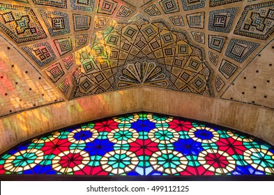 SHIRAZ, IRAN - MAR. 23, 2016: Islamic architecture of 17th century.