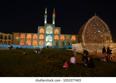 Shiraz, Iran - March 27, 2018:Fatima Masumeh Shrine in Qom city in Iran