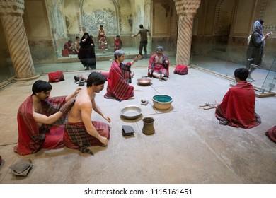 Shiraz, Iran, May 8, 2018: Famous Vakil public baths in Shiraz, Iran