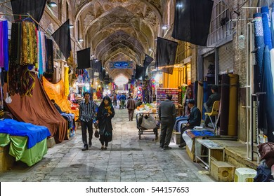 SHIRAZ, IRAN - NOVEMBER 18, 2016: Traditional iranian bazaar in Shiraz. It is a historical market and one of the oldest and largest bazaars of the Middle East.