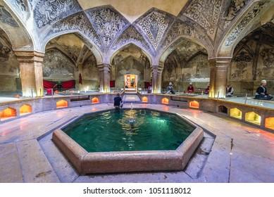 Shiraz, Iran - October 23, 2016: famous Vakil public baths in Shiraz, Iran