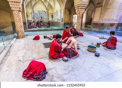 Shiraz, Iran - October 23, 2016: Exhibit in historical Vakil Baths in Shiraz