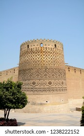 SHIRAZ, IRAN - SEPTEMBER 6: Arg-e Kharim Khan at 6 September, 2018 at Shiraz, Iran. Arg-e Kharim Khan is a medieval fortress in the middle of Shiraz.
