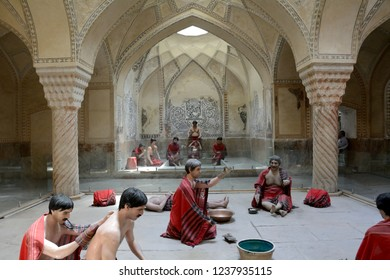 SHIRAZ, IRAN - SEPTEMBER 6: Hammam-e Vakil at 6 September, 2018 at Shiraz, Iran. Hammam is a traditional bath in the Middle East.