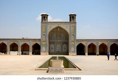 SHIRAZ, IRAN - SEPTEMBER 6: Vakil Mosque at 6 September, 2018 at Shiraz, Iran. The old town ofShiraz is full of mosques.