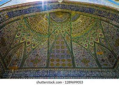 Shiraz Vakil Mosque Blue Tiles Ornament Muqarna Ahoopay Honeycomb Stalactite Vaulting