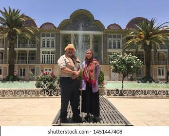 Shiraz,/Iran - 07/06/2019  photo of the Eram Garden,historic Persian garden in Shiraz