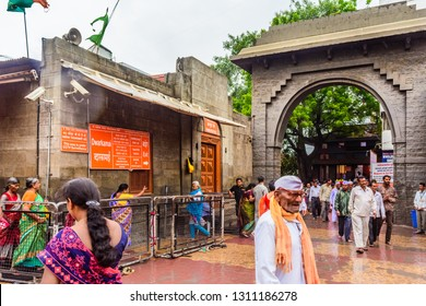 Shirdi, Maharashtra, India - August 2018 : Dwarkamai masjid situated in Sai mandir campus at Shirdi.