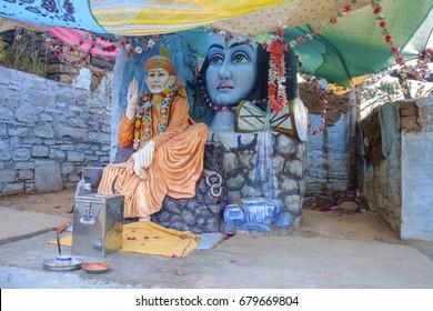 Shirdi sai baba temple on Omkareshwar, the sacred island on Narmada river, Madhya Pradesh.