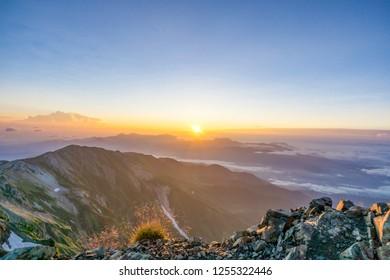 Shirouma mountain climbing road