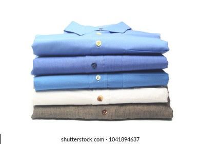 shirt folded and ironed in the dry cleaners