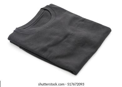 shirt. folded t-shirt on white background