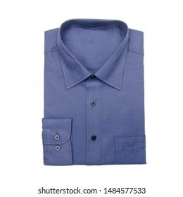 shirt or isolated folded fashionable men shirt new