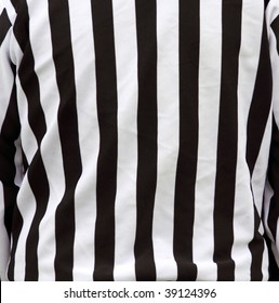 Shirt stripes of a referee of sports official.