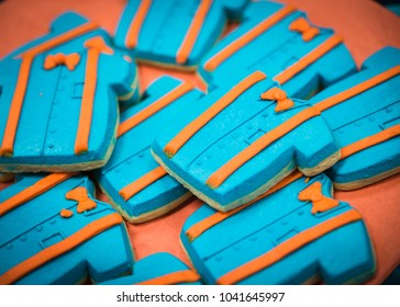 shirt theme kid's party cookies