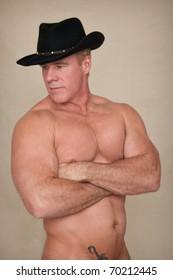 54311214bdd09 Shirtless Cowboy looks to side