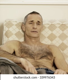Hairy Old Man Stock Photos Images Photography Shutterstock Hairy granny, mature hairy pussy, hairy old. https www shutterstock com image photo shirtless handsome man sitting on sofa 339976343