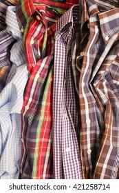 shirts, many shirts, stack of shirts, many businesshirts, businesshirts