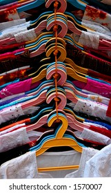 Shirts in the market (India).