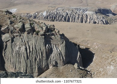 Shirvan Canyon in Ardebil, Iran. Shirvan Canyon was formed by lavas that eructate from Mount Savalan.