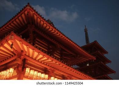 Shitennoji Temple Obon Candles