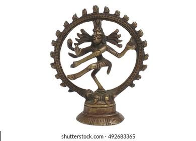 Shiva figurine. It is Nataraja - the king of dance. Figurine made in India.