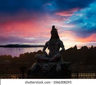 Shiva God Statue in Rishikesh, India