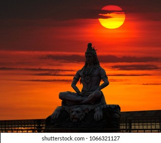 Shiva God Statue in Rishikesh, India