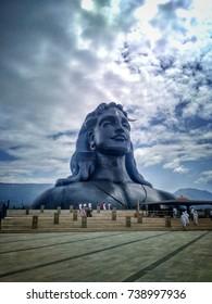 Shiva statue at Adiyogi, Coimbatore