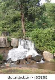 Shiva temple at waterfalls  near Chatikona,  Orissa,  India