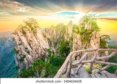 Shixin Peak (Begin to Believe Peak) of Huangshan (Yellow Mountains). Located in Huangshan, Anhui, China.