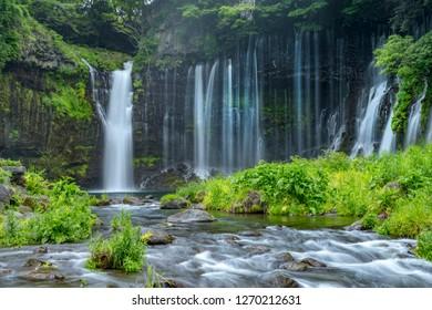 Shizuoka Shiraito Falls in Fujinomiyashi, Shizuoka Prefecture, Japan.