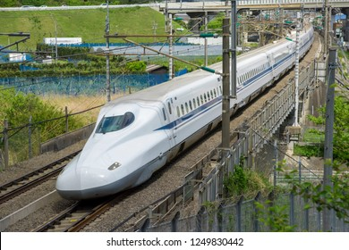 Shizuoka-shi,shizuoka,Japan-April16,2018:Tokaido Shinkansen series N700