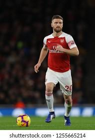 Shkodran Mustafi of Arsenal - Arsenal v Huddersfield Town, Premier League, Emirates Stadium, London (Holloway) - 8th December 2018
