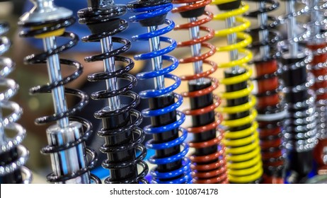 shock absorbers closeup