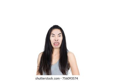 Shocked asian girl
