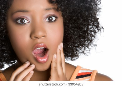 Shocked Black Woman