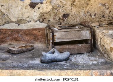 Shoe Left at an Italian Earthquake